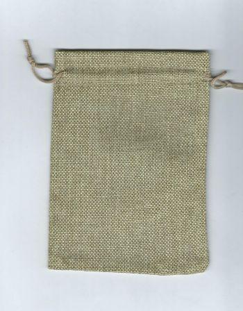 Мешочек для карт Таро льняной. Бежевый (17*13 см)