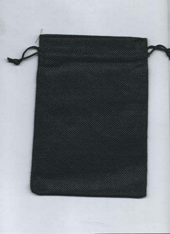 Мешочек для карт Таро льняной. Черный (17*13 см)