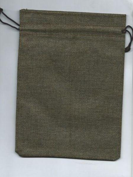 Мешочек для карт Таро льняной. Коричневый (17*22 см)