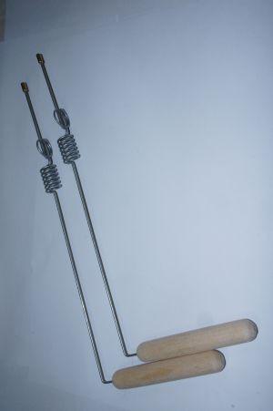 Рамка для биолокации с двумя резонаторами. Стальная. ПАРА.. ПАРА