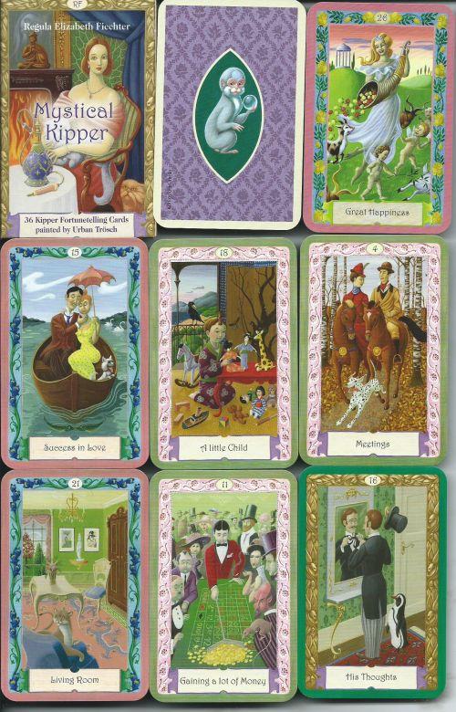 Mystical Kipper Lenormnad (Оракул Ленорман,  36 карт + инструкция на англ. яз.)