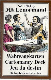 Mlle Lenormand Cartomancy Deck (№194115)  (. Оракул Ленорман 36 карт + инструкциия на англ. яз.).
