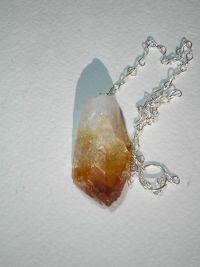 Маятник для биолокации из природного кристалла цитрина. Магический.