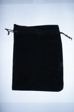 Мешочек для карт Таро гладкий большой. Черный (25*19 см)