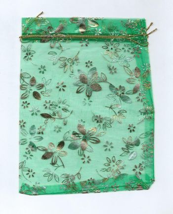 Мешочек для карт Таро из органзы. Зеленый (17*13 см)
