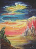 """Плакат для медитаций № 54 , серия """"Параллельные миры"""""""