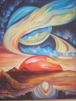 """Плакат для медитаций №67, серия """"Параллельные  миры"""""""