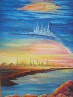 """Плакат для медитаций №70 ,Серия """"Параллельные миры"""""""
