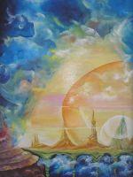 "Плакат для медитаций №75, Серия   ""Параллельные миры"""