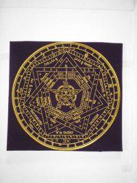 Магическая скатерть для гадания на картах таро и проведения ритуалов. Печать Бога. Sigillum.