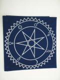 Магическая скатерть для гадания на картах таро. Звезда Магов. Синяя.