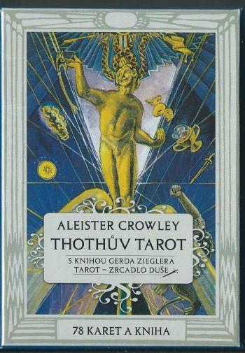 Thothuv Tarot (Таро Тота Кроули. 78 карт с Золотым обрезом +книга на чешском языке)