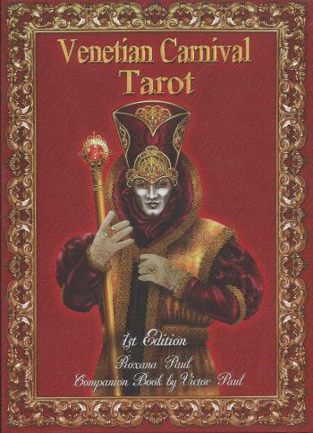 Venecian Carnaval Tarot (Таро Венецианский карнавал. 78 карт + книга на англ. яз.)
